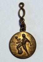 wunderschöne alte Fußball Medaille für Uhrenkette Fußball Sammlerstück
