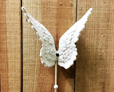 Cast Iron White Angel Wing Single Wall Hook