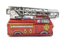 Vintage Shackman Yone Japan Tin Windup Ladder Fire Truck