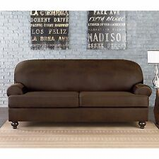 Sure Fit Vintage Faux Leather 2 fits both t or box Cushion loveseat Slipcover