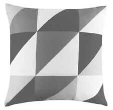 Yellow & Grey Geometric Cushion Cover Linen LOOK Fabric 18 Inch / 45 Cm 5