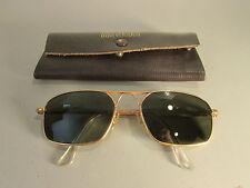 Vintage American Optical 5-1/2 AO Military Aviator Sunglasses 12K GF W/ Case!