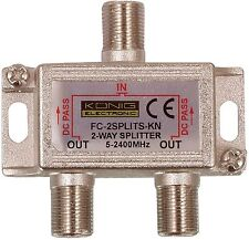 More details for f connector 2 way splitter x 10