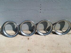 TRIM RINGS 15'' RALLY 68-87 CHEVY GMC OEM STAINLESS STEEL C10 K5 K10 C20 K20