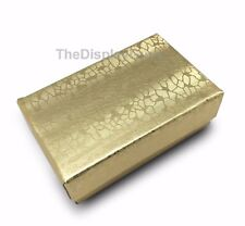 Us Sellerlot Of 50 Pcs 2 58x1 12x1 Gold Cotton Filled Jewelry Boxes
