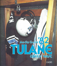1982 Tulane Green Wave Football Media Guide HC Vince Gibson Rodney Holman NFL