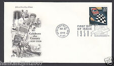 Celebrate the Century 1950s Usps 1999 First Day Cover & Stock Car Racing Stamp