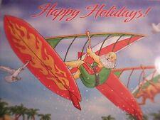 Santa Windsurfer Christmas Cards Palm Trees Beach Ocean Scene Box 20