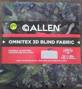 Allen Omnitex 3D Blind Fabric - 12 ft. x 56 in. Mossy Oak Country Break-Up - New
