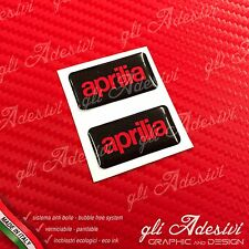2 Adesivi Resinati Sticker 3D APRILIA Black & Red