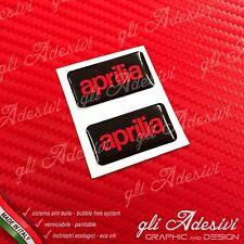 2 Adesivi Resinati Sticker 3D APRILIABlack & Red
