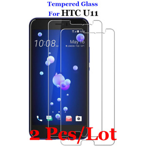 2PCS For HTC U11 Tempered Glass Protective Film Cover Guard Screen Protector