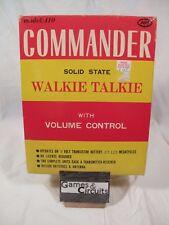 2x Commander Walkie Talkie - Model 410, In ORIGINAL BOX, SHIPS SAME DAY FREE NIB