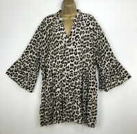 New Tunic Top Lagenlook Black Ivory Layered Italian Womens UK Size 16 18 20 22
