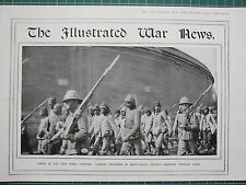 1915 WWI WW1 PRINT TURKISH PRISONERS IN ENVER-PASHA HELMETS CAIRO CATPTURE SUEZ