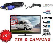 12 VOLT 19 INCH TV FOR TRUCKS VANS, CAMPING ,USB, DVB-T MPEG4, FREEVIEW, DVB-C