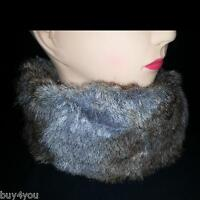 Ladies fur Loop Winter Scarf fur fur Collar round Scarf Tube Scarf Winter Scarf