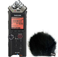 Tascam DR-22WL handheld Audio Recorder + KEEPDRUM Fell-Windschutz WSBK