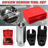 3pcs O2 Oxygen Lambda Sensor Socket 6 Point Wrench Tool Remover Installer Set