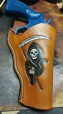 """Handmade Leather Holster """"The Reaper"""" for Smith and Wesson N Frame 3-4"""" barrel"""