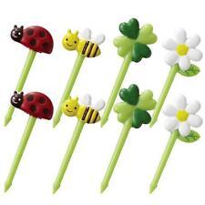Lady Bug Bee Flower shaped Food Picks 8pc S-3742
