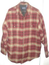 PURITAN Insulated, Red Plaid, Quilted, Flannel Work Shirt - Mens M 38/40