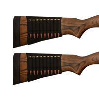 2X Rifle Bullet Elastic Butt Stock Cartridge Mun Pochette BK pour .308 30-06 BK