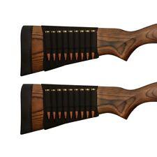 2X Rifle Bullet Elastic Butt Stock Cartridge Ammo Holder Pouch BK for .308 30-06