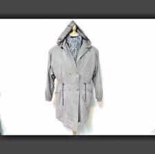 "Carlo Hooded Coat Women Grey Size 14-16 36-38"" Chest Grade B U928"
