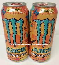 Deux Boîtes De Monstre khaotic RARE American jus de fruits caféine ENERGY DRINK