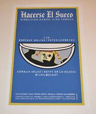 Cuban original SILKSCREEN movie poster.Handmade art.the Swedish.El Sueco