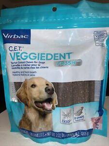 Dog Dental Treats Virbac CET VeggieDent FR3SH Tartar Control Chews Large Dogs