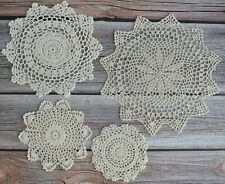 Set 4 Crochet Doilies Lot Rustic Wedding Table Runners Country Dreamcatchers