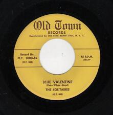 RARE DOOWOP-SOLITAIRES-OLD TOWN 1000-BLUE VALENTINE/WONDER WHY