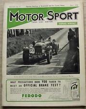 MOTOR SPORT Magazine Apr 1938 ASTON MARTIN BAMFORD Mercedes Benz 2.3