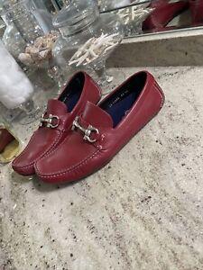 RARE SALVATORE FERRAGAMO 'Parigi' Moccasin Loafer, Red, Size 10 EE  Gancini