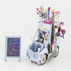 Festoon Vehicle 3D Pop Up Greeting Card Christmas Valentine Birthday Invitation