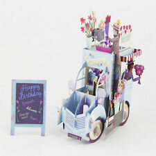 3D Pop Up Festoon Vehicle Greeting Card Christmas Valentine Birthday Invitation