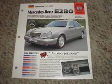 Germany 1995-1997 Mercedes-Benz E280 Hot Cars Group 5 # 7 Spec Sheet Brochure
