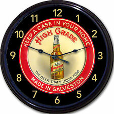 High Grade Galveston TX Beer Tray Wall Clock The Beer That's Liquid Food New 10""