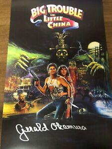 Big Trouble in Little China Autographed Signed Poster by Gerald Okamura with COA