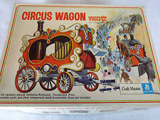 Vintage 1971 Craft Master wood Circus Wagon model & lamp kit no. 50127