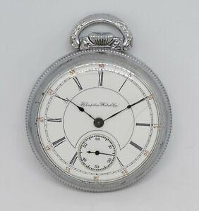 1894 Hampden Open Face Pocket Watch, Dueber Grade, Running