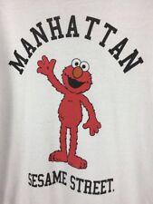 Manhattan Elmo Sesame Street Brand Sweatshirt Large RARE VINTAGE