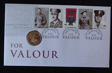2000 B/U AUSTRALIA $1 COIN & STAMPS PNC FOR VALOUR 100th AN FIRST VICTORIA CROSS