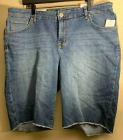 NWT Style & Co Womens Plus 16W Bermuda Denim Cutoff Mid Rise Jean Shorts New