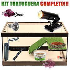 TORTUGUERA DE CRISTAL KIT COMPLETO PEQUEÑO TORTUGUERAS CRISTAL ACUARIO TORTUGAS