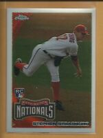 Stephen Strasburg RC 2010 Topps Chrome Rookie Card # 212 Washington Nationals