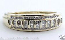 10k Yellow Gold Men's Wedding Anniversary Diamonds Ring Band bagguette 0.46 ct