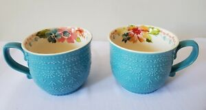 New! Pioneer Woman Set of 2 Wildflower Whimsy Mugs Cups